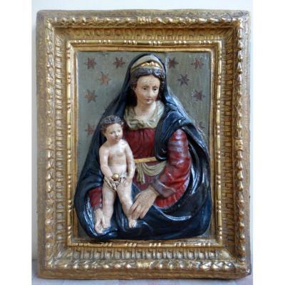 Vierge Et l'Enfant En Papier Mâché, Florence, Début Du XVIe Siècle
