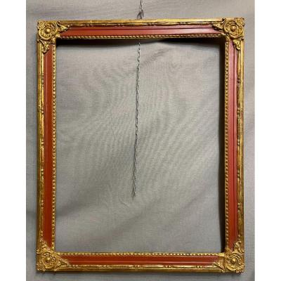 19th Century Golden And Lacquered Wood Frame