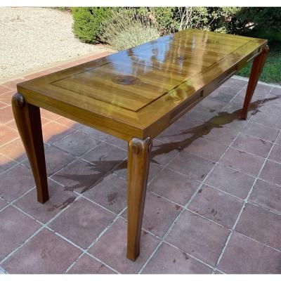 Large Art Deco Table With Inlaid Top XXth