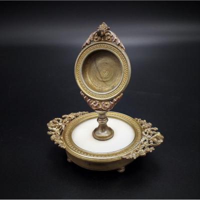 Gilt Bronze Watch Holder, 19th Century