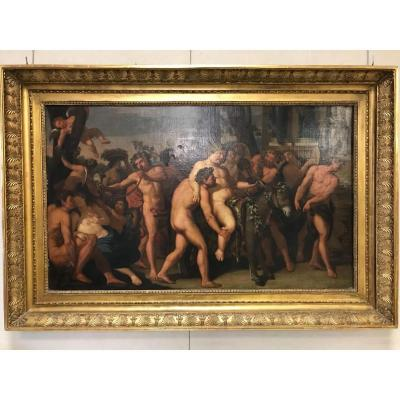 "Important French Canvas XVIIIth Century ""bacchanal"" 135cm - 115cm"