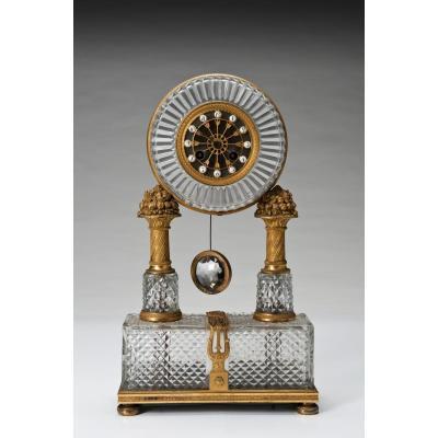 Pendulum Bronze XIXth Century 25cm X 10cm X 45cm