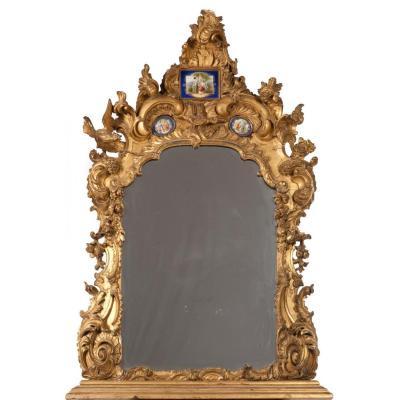 Miroir Se Console Napoleon III France XIXeme Siecle 99cm X 134cm