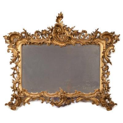 Miroir A Cadre France XIXeme Siecle 105cm X 86cm