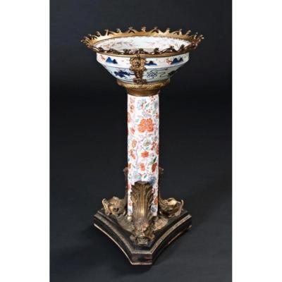 Rare Porcelain Table Imari H: 44cm XIXth Century