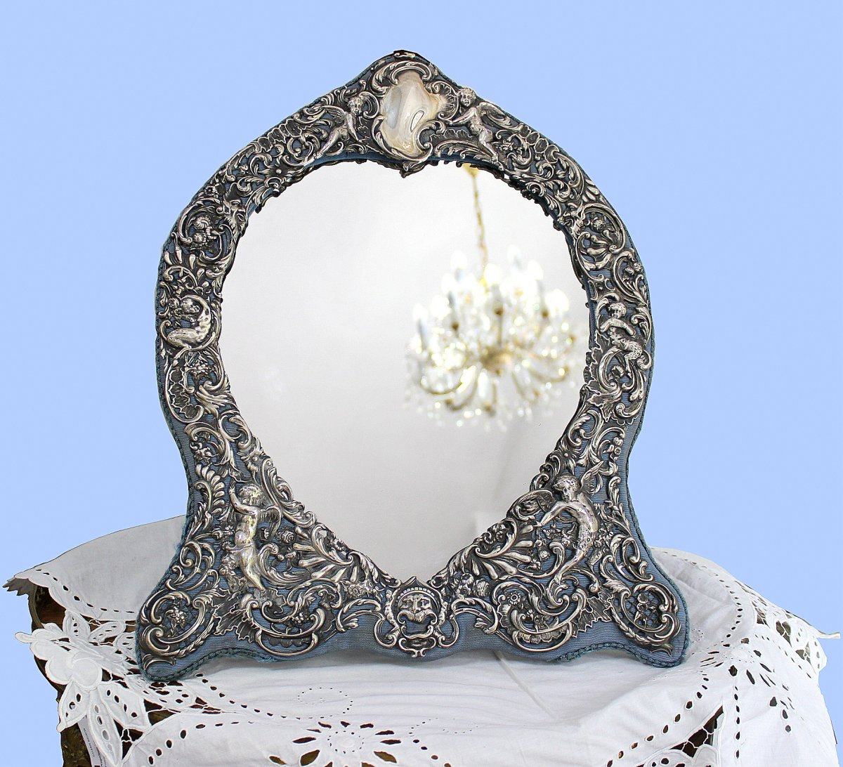 Silver Mirror With Rococo Patterns Wiliam Comyns London 1895
