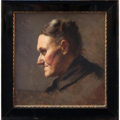 Václav Brozík (1851-1901 Paris) Peintre Académique Tchèque. Portrait De Femme