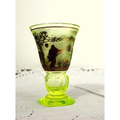 Moser Carlsbad Glass Cup Rudolf Wels 1882 - 1944