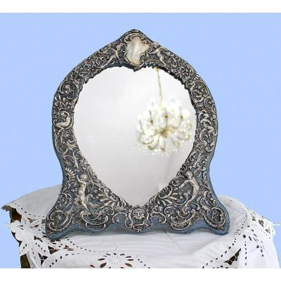 Miroir En Argent Avec Motifs Rococo Wiliam Comyns Londres 1895