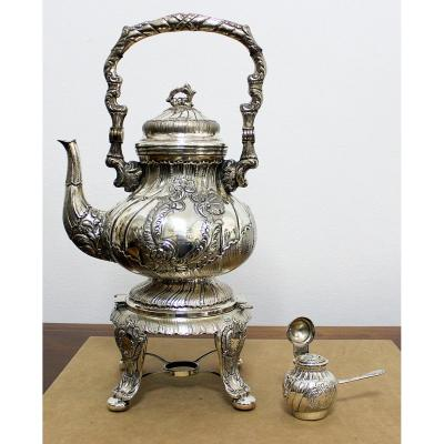 Silver Large Italian Samovar Height 47 Cm