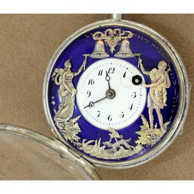 Rare Antique French Automatic Watch Repeater Mens Pocket Watch Circa 1820 Diamètre: 5 Cm