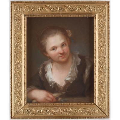 Gustaf Lundberg ( 17 August 1695 - 18 March 1786) Suédois Rococo Pastelliste Et Portraitiste.