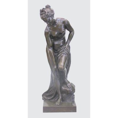 Bronze Français Impressionnant Et Lourd De Vénus. Du 19e Siècle. Hauteur: 88 cm