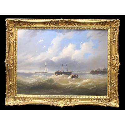 Josef Carl Berthold Püttner (1821–1881) Czech / Austrian Marine And Landscape Painter