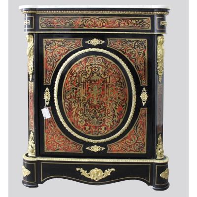 19th Century Napoleon III Salon Boulle Commode Cabinet