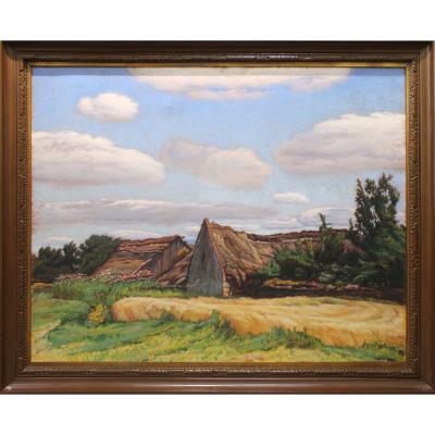 Rudolf Bém ( Pseudonyme Vratislav Hlava) 1874 - 1955 Peintre Tchèque