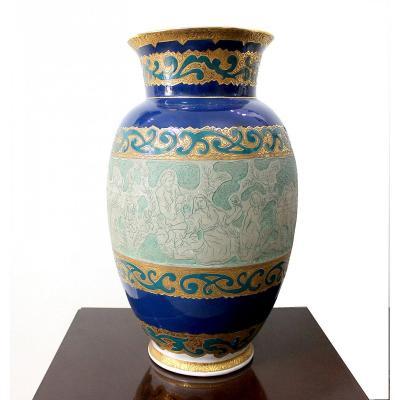 Art Déco Vase En Porcelaine  Manufacture Bohemia Dubí
