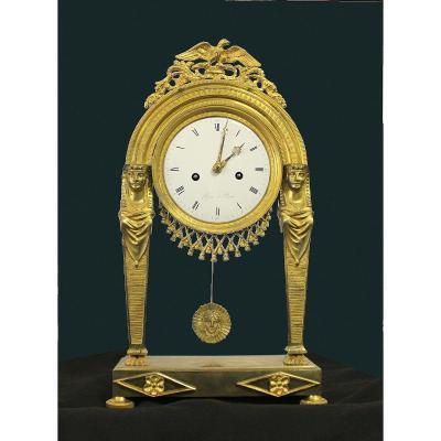 Pendule Empire Bronze Doré France 1820
