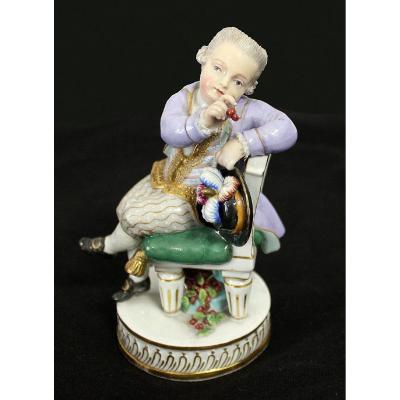 """Porcelaine de Meissen""""Figure d'un Petit Prince""""1764 - 1851"""