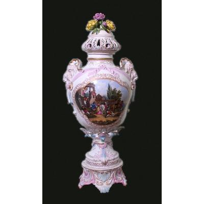 Meissen Grand Potpourri Urne Porcelaine  78cm