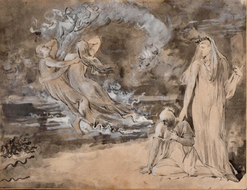 Dante Et Virgil Visitant Les Enfers