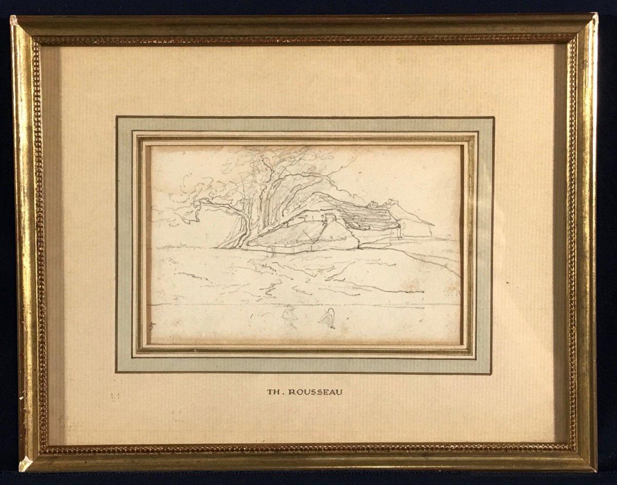 Théodore ROUSSEAU  (1812-1867) - Dessin - Ecole de Barbizon