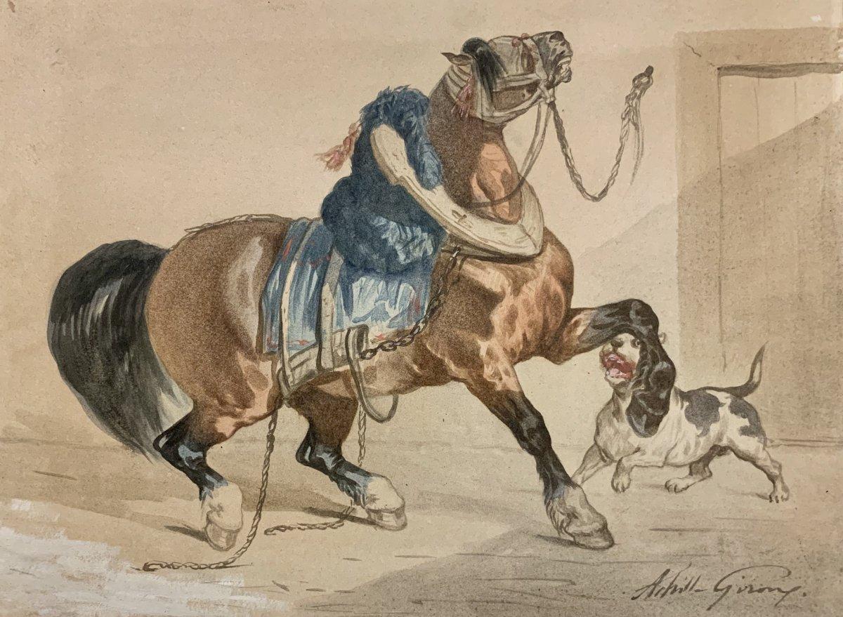 Achille Giroux (1816-1854), Hommage à Géricault
