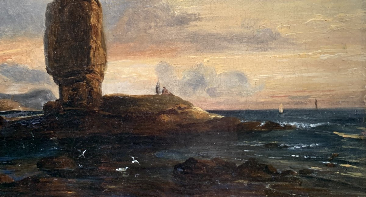 Théodore Gudin (1802-1880), Vue De La Pierre Longue De Batz-sur-mer-photo-1