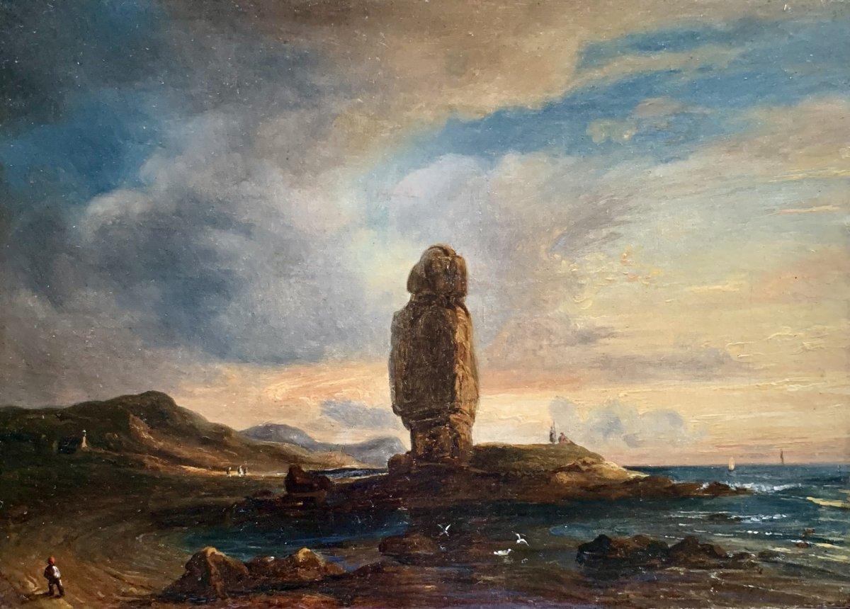 Théodore Gudin (1802-1880), Vue De La Pierre Longue De Batz-sur-mer