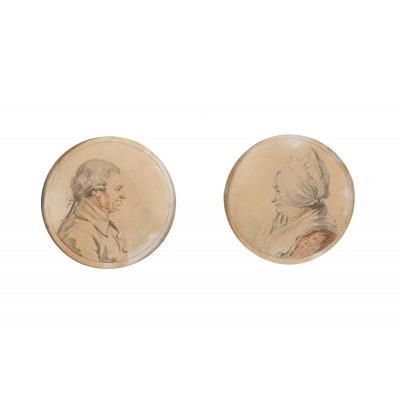 John Smart I (1741-1811), Paire De Portraits 1795
