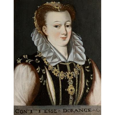 Portrait Présumé d'Anne De Saxe Comtesse d'Orange, Fin XVIe Siècle.