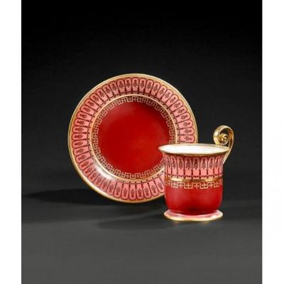 Sevres, Cup And Her Saucer