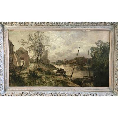 Gustave Den Duyts (1850-1897), Vue Du Canal De Gand-Terneuzen