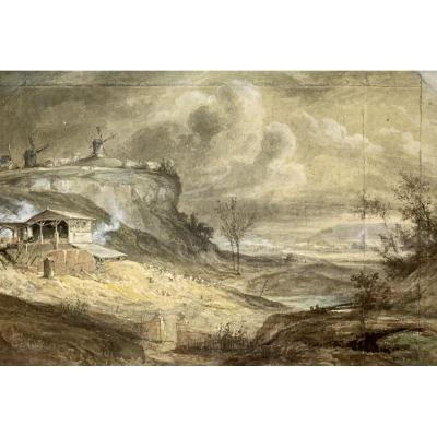 Georges Michel (1763-1843), Vue De Montmartre