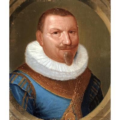 Portrait De Piet Heyn Ou Hein (1577-1629) Entourage De Jan Daemen Cool (1589-1660)