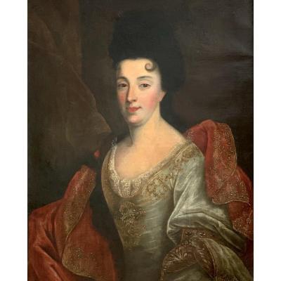 Nicolas De Largillière (1656-1746), (atelier De) Portrait De Dame