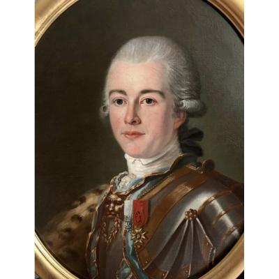 Portrait De Louis Charles d'Avesgo De Coulonges En 1782, Officier Au Régiment Royal De Dragons.