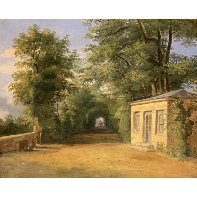 Entourage De Jean-victor Bertin (1767-1842), Vue Probable d'Une Entrée Du Parc De Saint Cloud