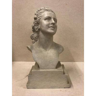 Buste In Terracotta By Demeter Chiparus
