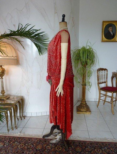 Robe De Soirée En Velours Dévoré Worth, Paris, Vers 1926-photo-7