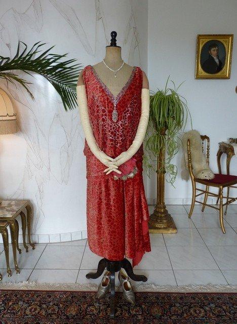 Robe De Soirée En Velours Dévoré Worth, Paris, Vers 1926