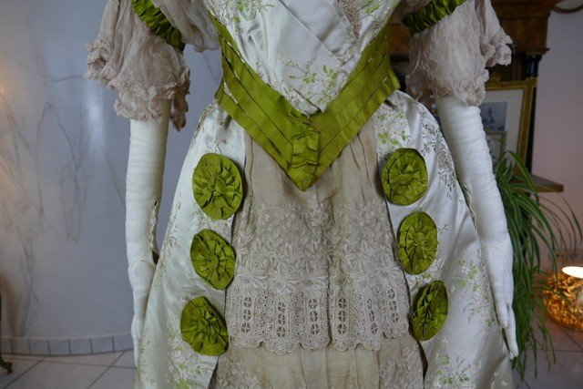 Colley Evening Dress With Matching Shoes, England, Ca. 1898-photo-4