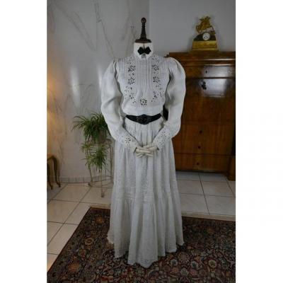 Walking Ensemble, Hole Lace, Antique Dress, Antique Walking Dress, Antique Gown, Ca. 1907