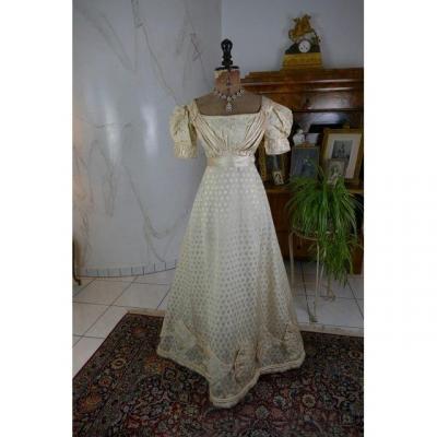 Regency Evening Dress, Antique Dress, Antique Gown, England, Ca. 1820
