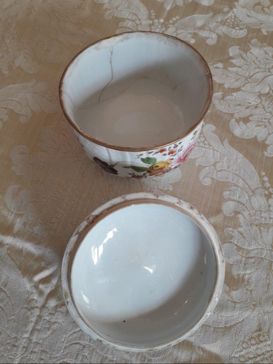 Sucrier- Porcelaine Allemande '' Potschappel '' fin 18ème-photo-1