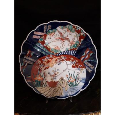 Période Edo Meiji / Arita-Imari-XIXè. Diam. 34 Cm.