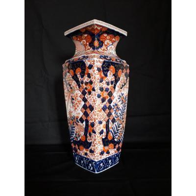Vase Quadrangulaire  Pér. : EDO/MEIJI - ARITA/IMARI déb. : XXè. s.