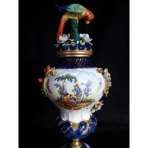 Vase Au Perroquet Sèvres XIX