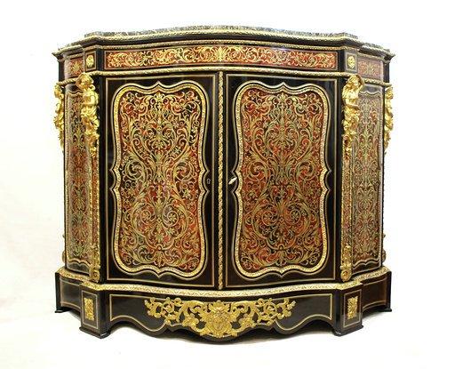 Cabinet Boulle Du XIXe Siècle Napoléon , Véritable Armure De Tortue - Tortie !!! première moitié du XIXe siècle