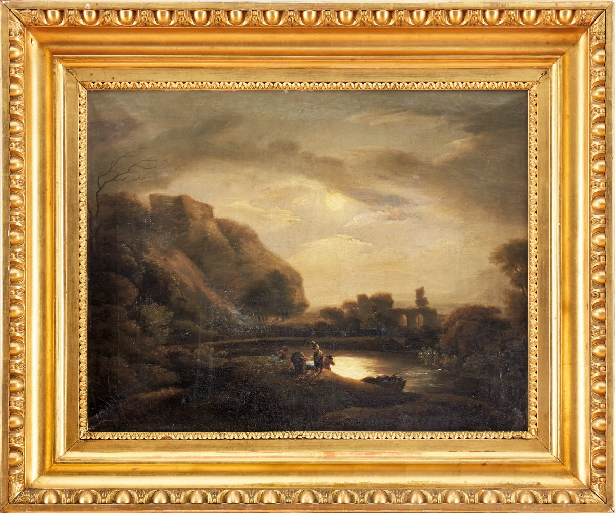 Beautiful Painting Of Registered Museum, Castle Jenny Salm At Night. 1818